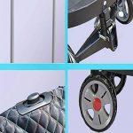 Shopping trolley XM ZfgG Remorque télescopique de Tuyau d'acier de Caddie de Grande capacité avec Le Pliage Rouge de 4 Roues de la marque Shopping trolley XM image 4 produit