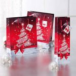 Sigel GT024 Lot de 5 sacs cadeaux Noël pour bouteilles, rouge et blanc de la marque Sigel image 4 produit