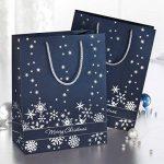 Sigel GT110 Lot de 3 sacs cadeaux Noël, 33 x 26 cm, bleu nuit et argent de la marque Sigel image 3 produit