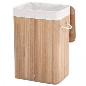 Songmics 72L (40 x 30 x 60 cm) Panier à linge en bambou Pliable avec Sac amovible lavable Naturelle LCB10Y de la marque SONGMICS image 0 produit