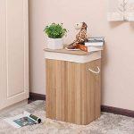 Songmics 72L (40 x 30 x 60 cm) Panier à linge en bambou Pliable avec Sac amovible lavable Naturelle LCB10Y de la marque SONGMICS image 1 produit