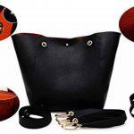SQLP Mesdames Designer Sac à Main Femme Noir Cuir Sac d'épaule Cabas Sacs de Courses (Noir) de la marque sqlp image 1 produit