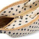 styleBREAKER Sac de plage XXL avec petit motif à étoiles, étoile imprimée et fermeture à glissière, sac à main, cabas, femmes 02012231 de la marque styleBREAKER image 2 produit
