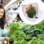 Sumnacon 6pcs Filet à Sacs Réutilisables pour Stocker les Fruits et Légumes, sac de shopping/achat fit à l'achat dans supermarché,légumes ou fruits marchés,bien pour l'environement(6pcs) de la marque Sumnacon image 4 produit