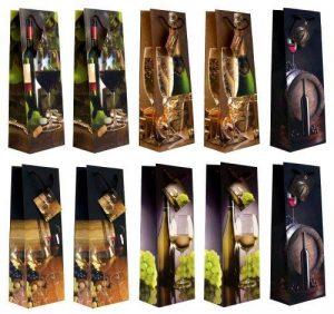 Taunus 99-3005 Lot de 10 sacs cadeaux pour bouteille (Motifs vin) (Import Allemagne) de la marque Taunus Grußkarten image 0 produit