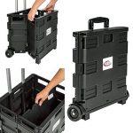TecTake Chariot de courses pliable 35kg avec 2 roues   42 x 37 x 98 cm de la marque TecTake image 2 produit