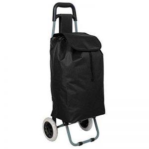 TecTake Chariot de Courses Pliable avec 2 Roues et Poche à L'arrière Panier - diverses couleurs au choix - (Noir) de la marque TecTake image 0 produit
