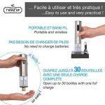 Tire bouchon électrique sans-fil Twinz'up - Coffret avec coupe-capsule et socle de recharge - Batterie de seconde génération - Le cadeau idéal pour tous les amateurs de vins et d'oenologie de la marque Twinz'up image 2 produit