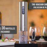 Tire bouchon électrique sans-fil Twinz'up - Coffret avec coupe-capsule et socle de recharge - Batterie de seconde génération - Le cadeau idéal pour tous les amateurs de vins et d'oenologie de la marque Twinz'up image 4 produit
