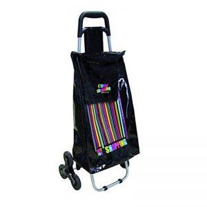 Totally Addict SH1483 Chariot de Course 6 Roues Plastique Noir 40 x 36,5 x 96,5 cm 50 L de la marque Totally Addict image 0 produit