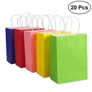 TOYMYTOY Sac cadeau, sacs en papier Kraft avec poignées Shopping Favor Bag, 20pcs, Mix Color de la marque TOYMYTOY image 0 produit