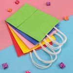 TOYMYTOY Sac cadeau, sacs en papier Kraft avec poignées Shopping Favor Bag, 20pcs, Mix Color de la marque TOYMYTOY image 3 produit