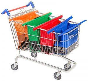 Trolley Bags 4 Sacs à Courses/Commissions avec Poignées Renforcées - Parfait pour Chariot de la marque trolley bags image 0 produit