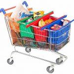 Trolley Bags 4 Sacs à Courses/Commissions avec Poignées Renforcées - Parfait pour Chariot de la marque trolley bags image 1 produit