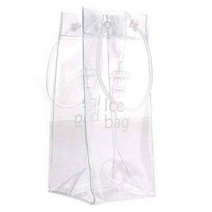 ULTNICE Sac transparent transparent de refroidisseur de poche de sac de glace de vin de Champagne de PVC avec la poignée de la marque ULTNICE image 0 produit