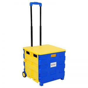 WOLTU EW4806gb-c Chariot supermarché Pliante avec Couvercle Transporter jusqu'à 35 kg,Chariots de Courses,Caddie pour Les Courses,Bleu Jaune de la marque WOLTU image 0 produit