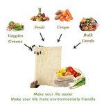 WooWell réutilisable sacs de légumes en coton, sacs de fruits et sacs de légumes, sacs à provisions en maille respirant, beaux sacs en coton naturel, 6 pièces - 2x S, 2x M, 2x L, vie écologique, rendre notre maison plus belle, laissez Vos achats sont plus image 1 produit