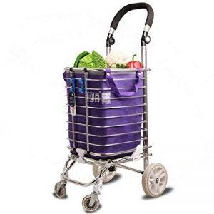 ZfgG Chariot léger à Caddie à 4 Roues avec poignée réglable - Grand Shopper Pliable avec Roues pivotantes et Facile à déplacer de la marque Shopping trolley XM image 0 produit