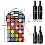 Zoresyn Sac pour Bouteilles de Vin pour Transport Vin/ Bières/ Boissons/ Biberon, Néoprène (Cercle Coloré) de la marque ZORESYN image 1 produit