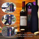 Zoresyn Vin Sac en Néoprène pour mettre 2 Bouteilles de Vin/Boissons de la marque ZORESYN image 4 produit